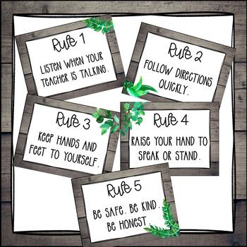 Classroom Rules {Southern Charm Theme} EDITABLE - Farmhouse