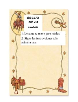Classroom Rules - Spanish