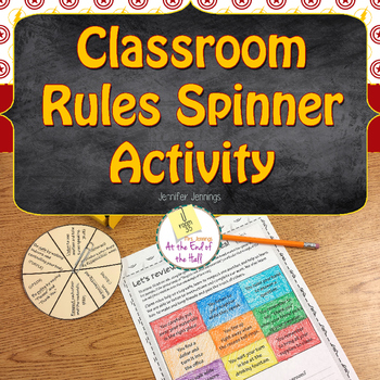 Classroom Rules Spinner Activity