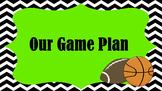 Classroom Rules: Chevron Sports Themed