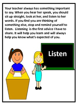 Classroom Rules Story and Activity Book