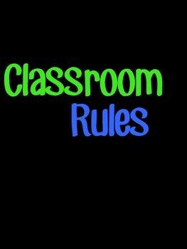 Classroom Rules- Subway Art