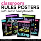 Classroom Rules Subway Art Poster Set {Black Series}