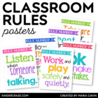 Classroom Rules Subway Art Poster Set {White Series}