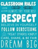 Subway Art Classroom Rules Poster - Make Your Classroom Stand Out