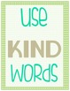 Classroom Rules Subway Art Styled Poster Pack- Green, Turq