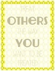 Classroom Rules Subway Art Styled Poster Pack- Yellow and Brown