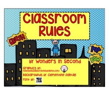 Classroom Rules - Superhero Theme