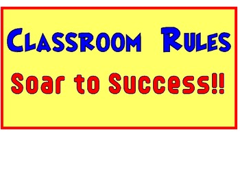 Classroom Rules Superhero and Superkid Theme