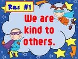Classroom Rules Superhero and Superkid Theme