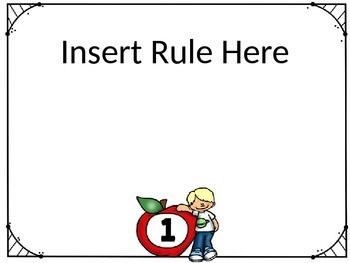 Classroom Rules Template English/Spanish ***EDITABLE***