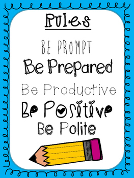 Classroom Rules: The 5 P's