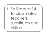 Classroom Rules- The 7 Be's Posters