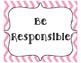 Classroom Rules- Three R's