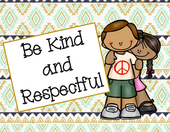 Classroom Rules - Tribal Themed Posters