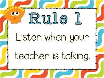 Classroom Rules {Under the Sea Theme} Positive Behavior