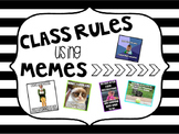Classroom Rules Using Memes!