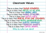 Classroom Rules/Values Poster