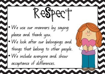 Classroom Rules / Values Posters