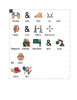 Classroom Rules Visual