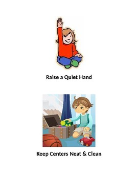Classroom Rules Visuals for PreK