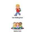 Classroom Rules Visuals for PreK