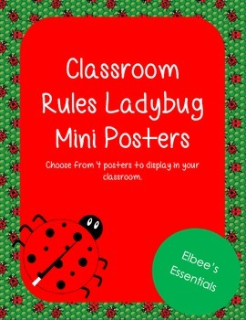 Classroom Rules - WBT Mini Posters (Ladybug Themed)