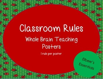 Classroom Rules - WBT Posters (Ladybug Themed)