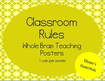 Classroom Rules - WBT Posters (Yellow)