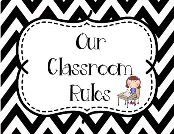 Classroom Rules - White and Black