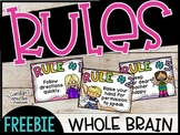 Classroom Rules - Whole Brain Classroom Rules - 5 Rule Posters