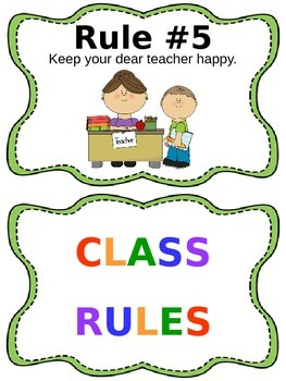 Classroom Rules - Whole Brain Teaching