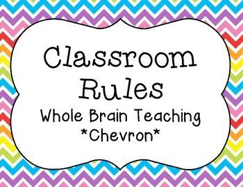 Classroom Rules {Whole Brain Teaching} Chevron