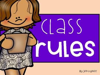 Classroom Rules- Whole Brain Teaching Style