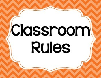 Classroom Rules (Will work for any Elementary Classroom) - Cute Chevrons