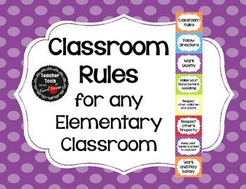 Classroom Rules (Will work for any Elementary Classroom) - Cute Polka Dots