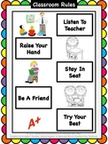 Classroom Rules With Visuals FREEBIE