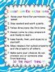 Classroom Rules Zebra Blue Design