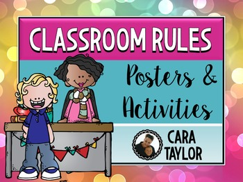 Classroom Rules and Activities ~ Editable!
