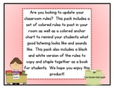 Classroom Rules and Anchor Chart