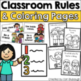 Classroom Rules and Coloring Pages (PBIS)