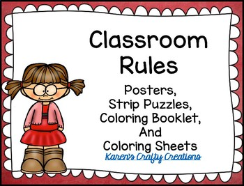 Classroom Rules and Expectations : Posters, Puzzles, Booklet