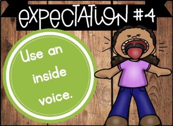 Classroom Rules and Expectations Posters with Behavior Notice