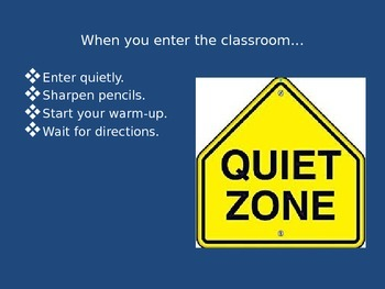 Classroom Rules and Expectations PowerPoint