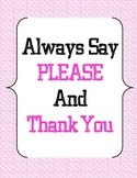 Classroom Rules and Manners - Pink Polka Dots