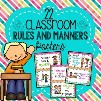 Classroom Rules and Manners Posters.