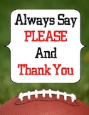 Football Classroom Rules and Manners