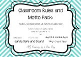 Classroom Rules and Motto posters