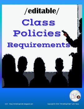 Class Contract Classroom Rules and Policy  {EDITABLE} student/parent copy