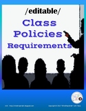 {EDITABLE} Class Contract, Classroom Rules and Policy / HS Math